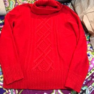 J crew red turtleneck
